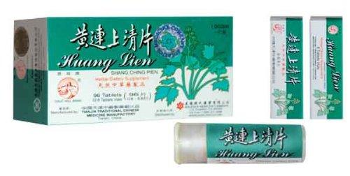 Gran marca Huang Lien Shang Ching Pien 12-8 tableta contenedores (tabla 96) caja de la pared