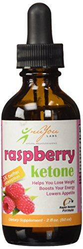 nuYou laboratorios frambuesa cetona gotas con rápida liberación de grasa quema Raspbery gotas fórmula Ultra - puro 100% Natural frambuesa cetonas - libre de Gluten - botella de 2 oz
