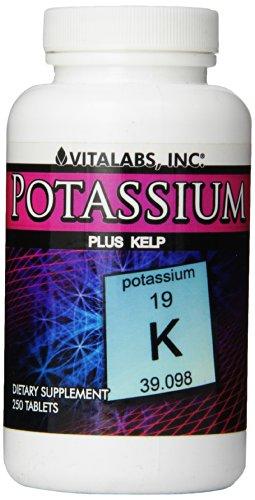 Vitalabs potasio además de Kelp, frasco de 250 tabletas, (paquete de 3)