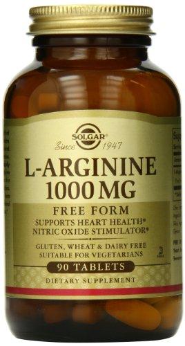 Comprimidos de Solgar L-arginina, 1000 mg, 90 cuenta