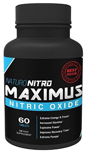 Naruto Nitro Maximus NO2 óxido nítrico tabletas - alta potencia refuerzo y L-arginina no suplemento - permite construir músculo más rápido, entrenamiento y tren más largo y más difícil - 60 comprimidos