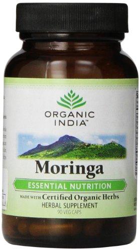 India orgánico Moringa cápsulas, cuenta 90