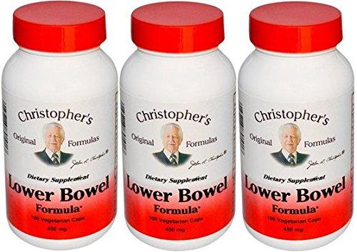 Inferior intestino fórmula vegetariana Dr. Christopher 100 cápsulas (Pack 3)