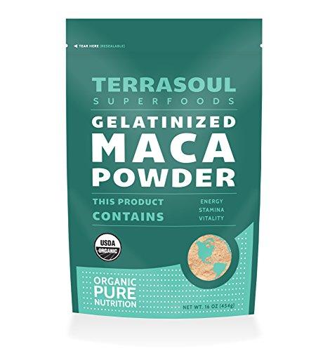 Terrasoul Superfoods orgánicas gelatinizada de Maca en polvo, 16 onzas