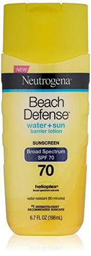Playa de Neutrogena bloqueador de defensa con amplio espectro SPF 70 protección, 6,7 onzas