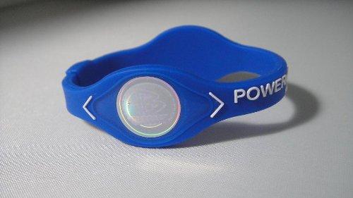 Power Balance pulsera azul W letras blancas tamaño pequeño
