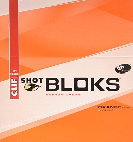 Energía de CLIF BLOKS mastica - naranja - (2,1 oz, cuenta 18)