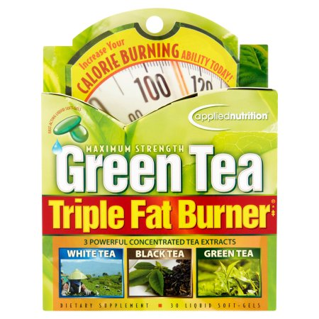 APPLIED NUTRITION Maximum Strength té verde triple quemador de grasa líquida Cápsulas Blandas de 30 de recuento