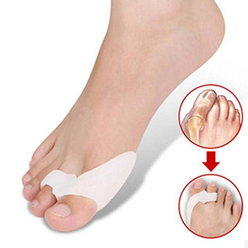 HuntGold 2 pares del silicón del dedo del pie Hallux Valgus Corrector alisador ortesis pie cuidado Tool(A)