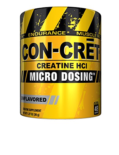 CON-CRET creatina HCL, sin sabor, 48 porciones