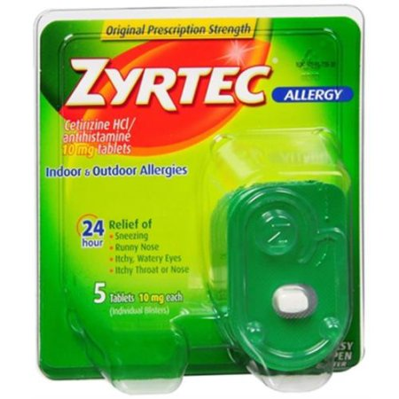 Zyrtec alérgicos comprimidos de 10 mg 5 ea (Pack de 3)