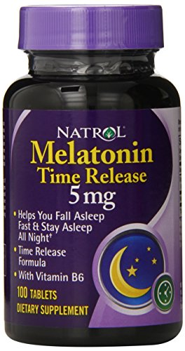 Natrol melatonina Tr 5mg, 100 tabletas de (Pack de 2)