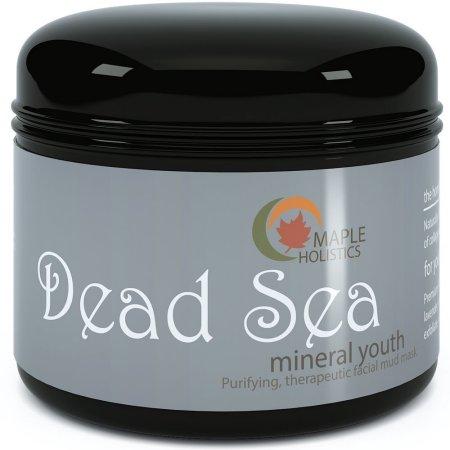 Maple Holistics Mar Muerto Crema Mineral Mascarilla de Barro anti envejecimiento limpiador facial natural de cuidado de piel 270ml