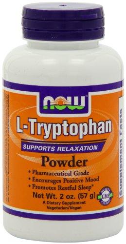 Ahora alimentos polvo de L-triptófano, 2 onzas