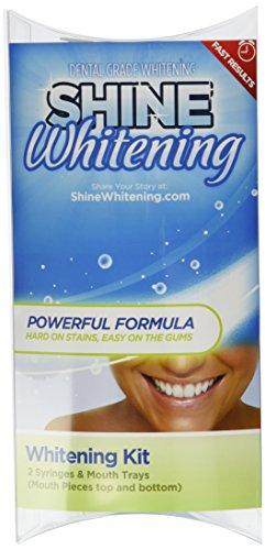 ★ Blanqueamiento brillar ★ Kit de blanqueamiento de dientes profesional ★ (2) 5cc jeringas y bandejas (superior e inferior) de la boca