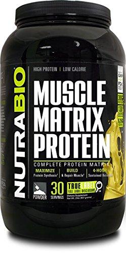 Proteína de la matriz de NutraBio muscular - Banana 2lb