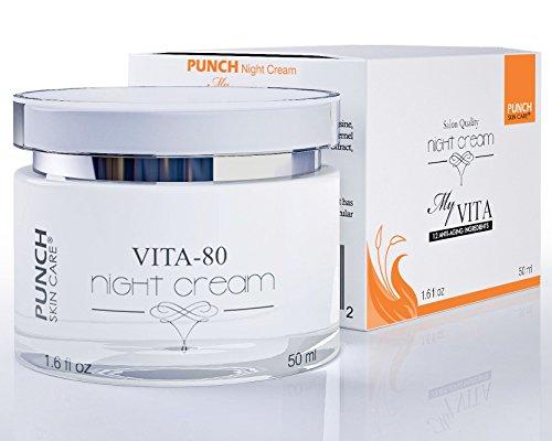 72% estimulación dérmica amplificado y reparación, cuidado de la piel PUNCH ® Vita noche crema, crema de noche que deja la piel renovaron y reconstrucción. Crema hidratante, crema de noche, crema de cara de cara