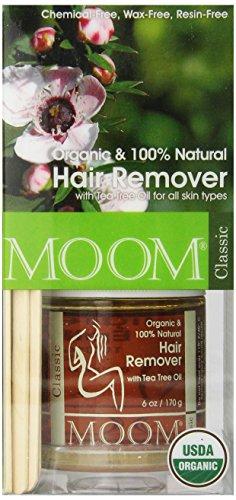 Moom orgánico cabello eliminación Kit, árbol del té, paquete de 6 onzas