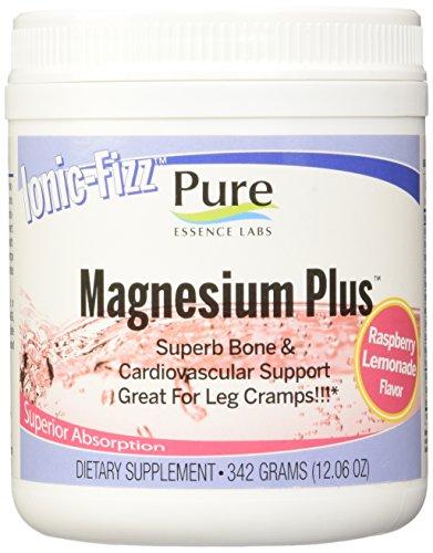 Esencia pura laboratorios Fizz iónico magnesio Plus - excelente hueso y Cardiovascular ayuda por pura esencia Labs - limonada de la frambuesa - 342 gramos