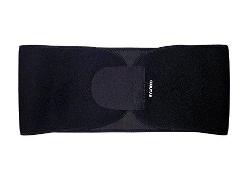 Yuness ® Activewear apoyo correa - Brace cintura inferior detrás Lumbar de neopreno - Ab compresión Toner adelgazante - duradera & fina 3.7mm - dolor de espalda de columna vertebral, postura alivio corrección - 1-tamaño-forma-todo Unisex