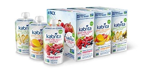 Kabrita no-GMO, Yogurt de leche de cabra y la bolsa de fruta, sabor mixto Pack-18 bolsas