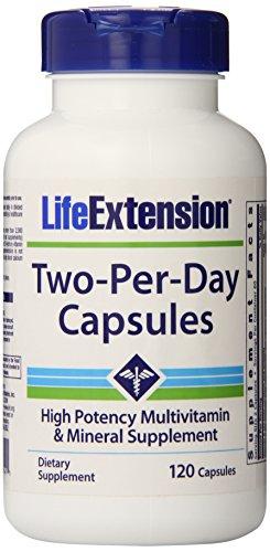 Extensión de la vida dos por día cápsulas, 120 cuenta
