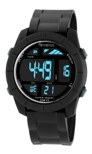 40/8253BLK Armitron hombres Sport reloj Digital