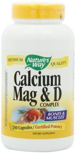 De la naturaleza forma calcio, magnesio y vitamina D, 250 cápsulas