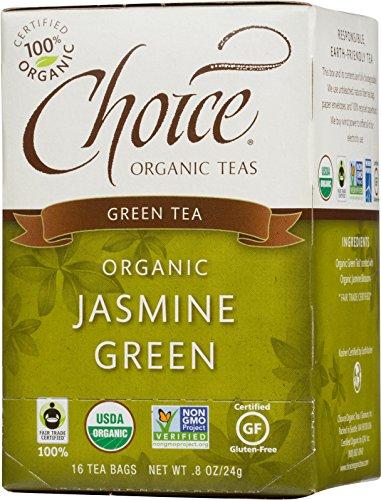 Opción jazmín té verde orgánico, cuenta 16 caja