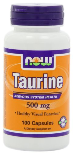 AHORA alimentos taurina 500mg, 100 cápsulas (paquete de 3)