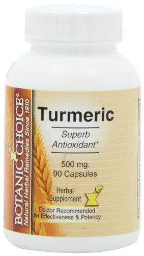 Botanic Choice cúrcuma, 500 mg, 90 cápsulas (paquete de 5)