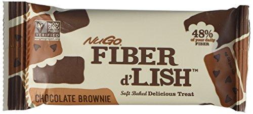 Lish NuGO fibra nutricional barra de Brownie de Chocolate, cuenta 16