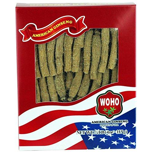 WOHO Ginseng americano #133.4 medio corto pequeño 4oz caja