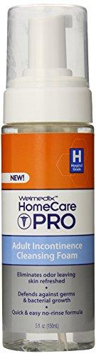 Welmedix Home Care Pro adulta incontinencia limpieza espuma, 5 onzas