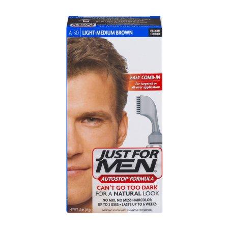 Just For Men Autostop Fórmula Fácil Peine-In Color de pelo A-30-Light Medium Brown 1.2 OZ