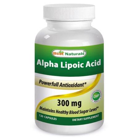 Best Naturals ácido alfa lipoico 300 mg 120 Cápsulas