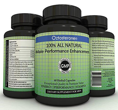 Oztosterone ® masculino rendimiento mejora testosterona para los hombres - todo vegano Natural por la nos cachonda cabra Weed & Maca raíz - 60 cápsulas - aumentar resistencia, energía, pérdida de grasa y crecimiento muscular
