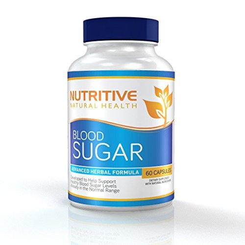 Azúcar en la sangre avanzada fórmula Herbal - desarrollada para ayudar a niveles de azúcar de sangre sano soporte - nutritivo Salud Natural - 60 cápsulas