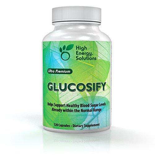Soluciones energéticas alta Glucosify azúcar en la sangre ayuda suplemento 120 cápsulas