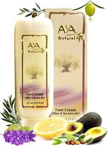 Crema natural para pies agrietados pies - vegano Premium pie crema hidratante para talones secos 4,25 oz - karité, oliva, Jojoba y mezcla de aceites de árbol de té