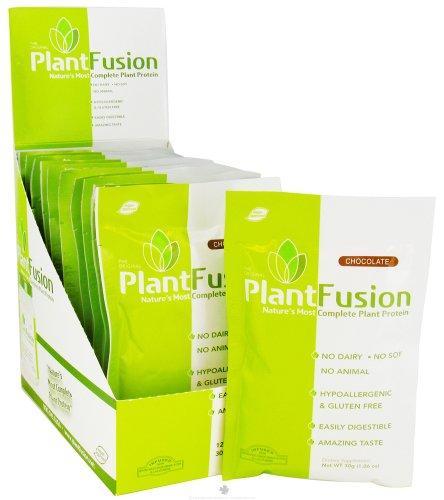 Multi fuente planta proteína Chocolate caja PlantFusion ct 12 paquetes