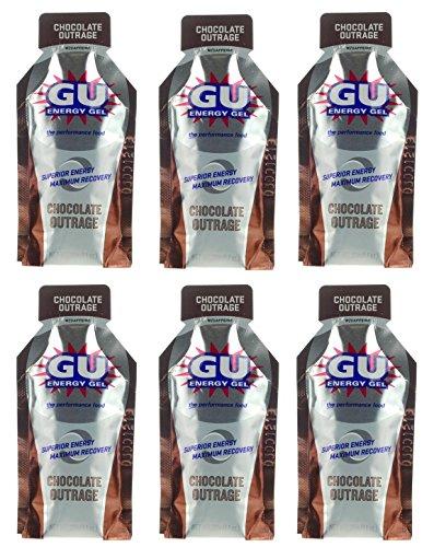 GU Energy Gel - Chocolate Outrage (paquetes de 6 x 1.1oz)