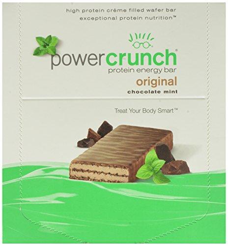 Potencia Crunch proteína energía Bar, barras de Chocolate menta, 1,4 onzas, 12 Conde