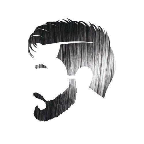 Varonil chico de negro cabello, barba y bigote Color: 100% Natural y libre de químicos