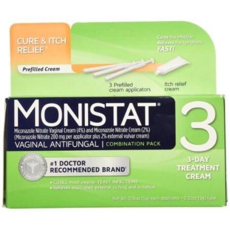 3 tratamiento antifúngico vaginal 3-día paquete de combinación 1 ea (paquete de 6)