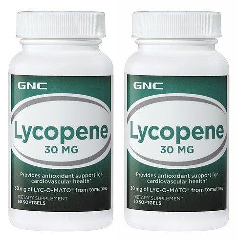 Nutrition preventiva GNC® Lyc-O-Mato® licopeno de tomates 60 cápsulas, solo y Multi Packs (dos botellas de cada uno de 60 cápsulas)