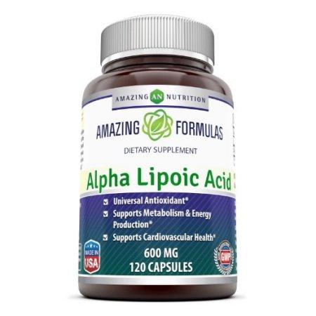 Amazing Formulas ácido alfa lipoico - 600 mg 120 Cápsulas