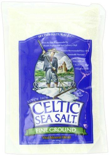 Mar Céltico sal, fina tierra, 16 onzas