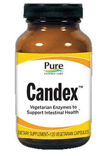 Esencia pura laboratorios Candex - sistema de gestión de la levadura - Natural las enzimas para digerir las paredes celulares fúngicas - 120 cápsulas vegetarianas