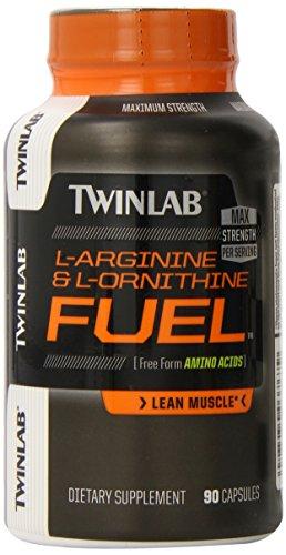 Cápsulas de L-arginina/L-ornitina de Twinlab combustible, cuenta 90